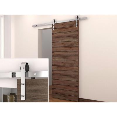 Juego de pistas rieles para puerta de madera y soporte pp - Rieles para puertas ...