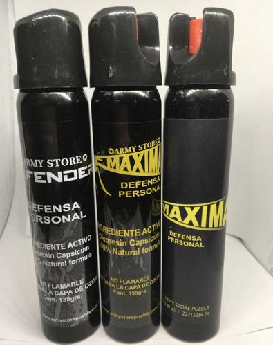 Gas Pimienta/lacrimogeno Defensa Personal 135 Grms Seguridad