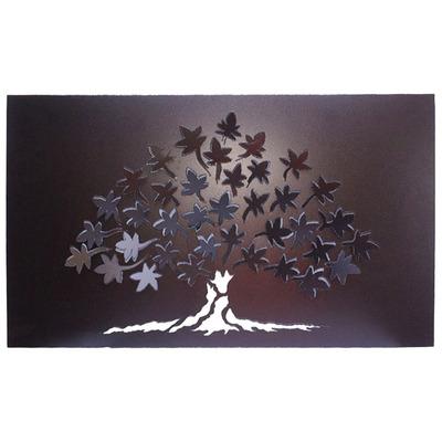 lampara cuadro relieve hojas de parra x cm