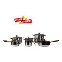 Batería Kitchenes de 12 piezas de Acero Inoxidable 825038
