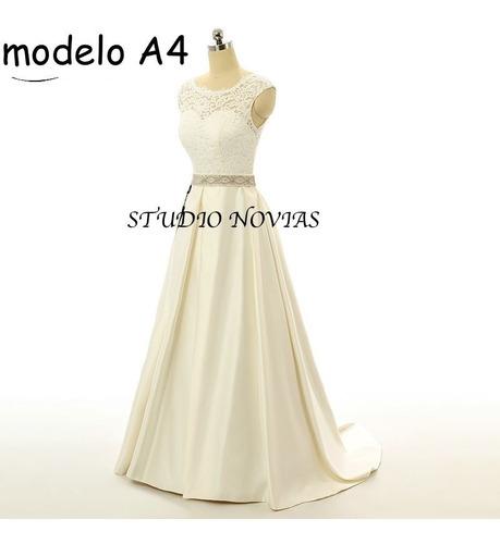 Vestido De Novia Nuevo Barato Bonito Elegante Boda Modelo A4