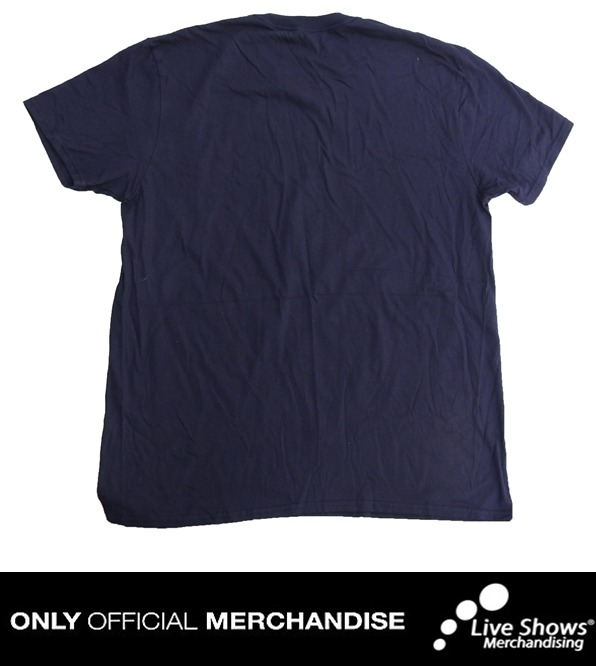Playera Oficial BAND OF HORSES BLUE TEE
