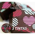 Transfer para Chocolate San Valentín - 3 tintas - ...