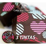 Transfer para Chocolate San Valentín - 3 tintas - Ma Baker and Chef