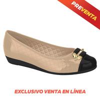 Flats de alto confort beige-negro EC0003