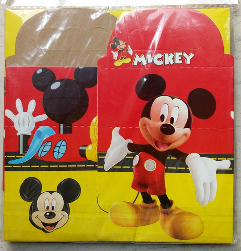 Mickey Mouse Paq 10 Cajitas Dulceras Feliz Bolo Pixar Dis