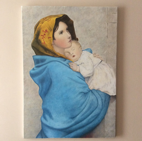 Pintura Al Óleo - Virgen De La Calle