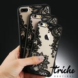 Funda Case Vintage Flores Negro iPhone 8 Triche