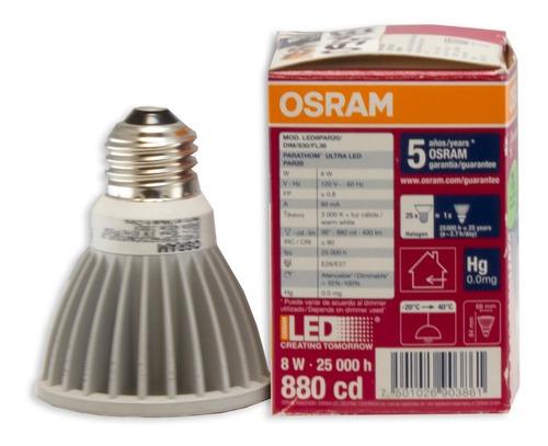 Parathom Ultra Led Par20 Spotlight 8w Warm White 120v - Ecart