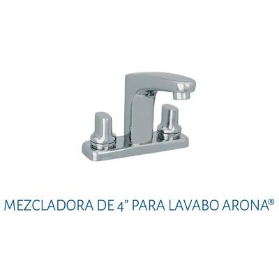 Mezcladora para lavabo 4 urrea 9083ar arona cromo for Llaves mezcladoras para lavabo urrea