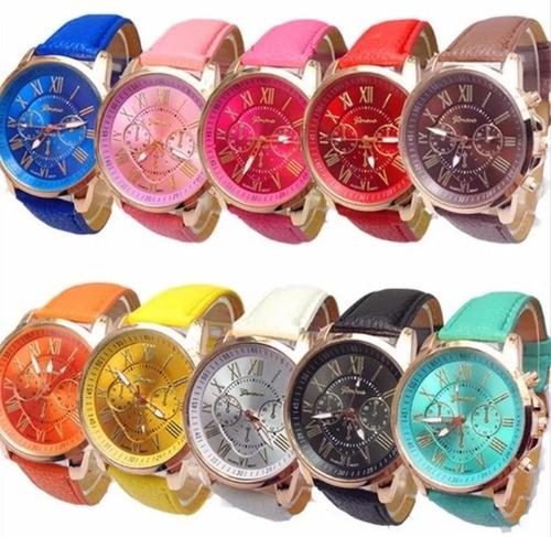 Promoción Lote 10 Reloj Relojes Geneva Unisex Alta Calidad