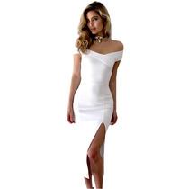 62841df34b Comprar Vestido Largo Strapless Blanco Entallado Elegante 610532