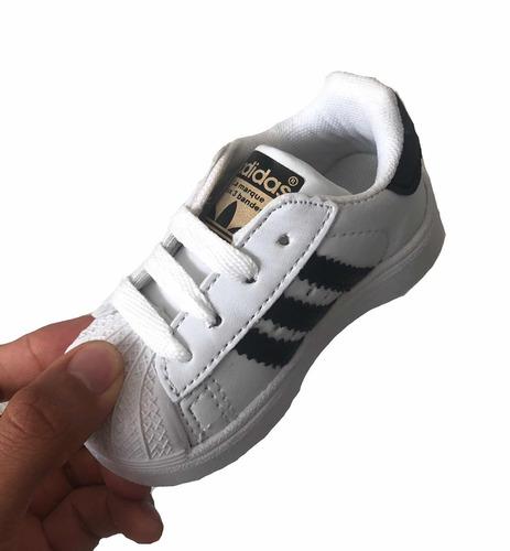 c8872bc48 ... comprar Tenis adidas Bebe Superstar Infantil Niño Niña 11 12 13 14 ...