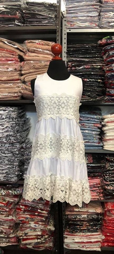 2b6930606c Vestido Cklass Blanco 973-19(detalles). Outlet saldos Mchn en venta ...
