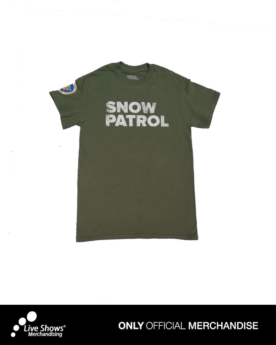 PLAYERA SNOW PATROL VERTE