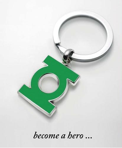 Llavero Green Lantern Logo Dc Comics Baño De Plata