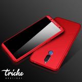 Funda 360 + Cristal Slim Color Rojo Huawei Mate 10 Lite