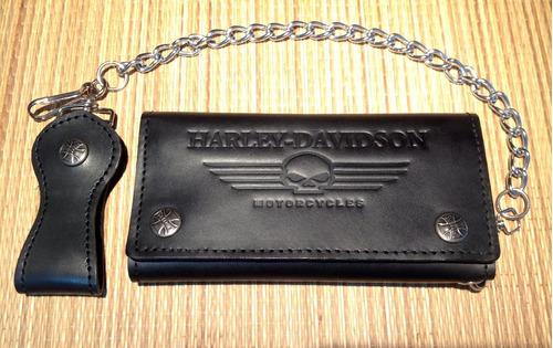 Cartera Billetera Harley Davidson 100% Piel De Calidad