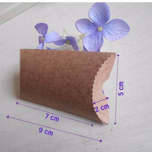 Caja Cajita Almohada Kraf Carton Dulces Recuerdos