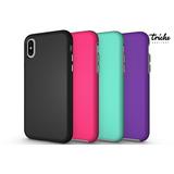 Funda Case Armor Colores Resistente Golpes Diseño iPhone X