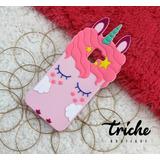 Funda Botarga Unicornio Pestañas Rosa Galaxy A8 Plus 2018