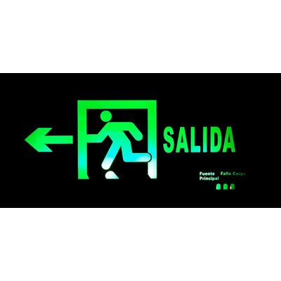 Letrero luminoso led verde salida con bater a de respaldo for Salida de envio de oficina de cambio de destino