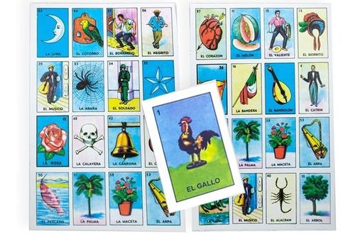 Loteria Mexicana Imprimible De 4x4 99 Cartas Y Barajas en ...
