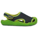 Zapato Crocs Niño Swiftwater Sandal K Verde/gris