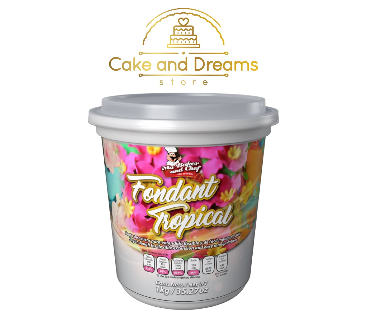 Fondant Tropical 1 kg - Ma baker and Chef