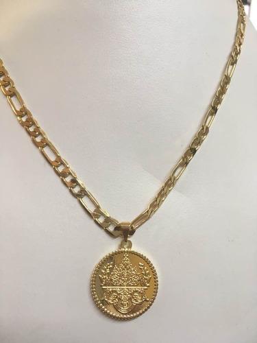 Collar Corto Cartier 50cm Con Escudo Oro Laminado 14k