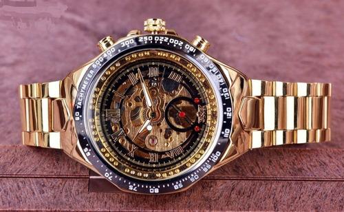 Reloj  Skeleton  Mecanico Automatico  Big  Gmt886-1 +pulsera