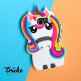 Funda Botarga Diseño Unicornio Arcoiris Galaxy S7