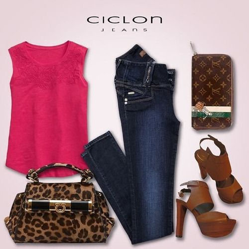 f061bd8861 ... comprar Jeans Ciclon Pantalón Mujer Corte Colombiano Push Up 2 Jeans