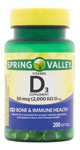Vitamina D3 Softgels Natural 2,000iu 200 Tabletas Eg D45 - Ecart