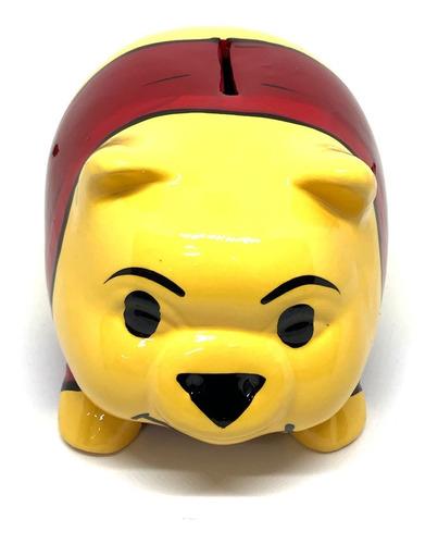 Alcancía Winnie Pooh Cerdito Puerquito Barro Ceramica - Ecart