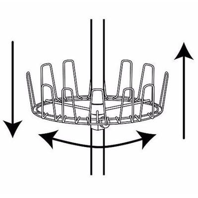 Zapatera de metal cromado organiza 36 pares 6 niveles for Zapateras de metal
