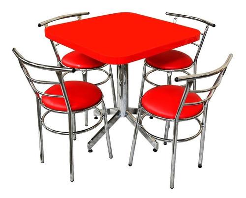Mesa Juego Con 4 Sillas Para Restaurante Comedor Barato Ch75 ...