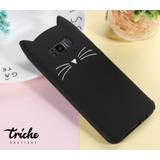 Funda Botarga Diseño Gato Bigotes Colores Galaxy S8