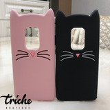 Funda Botarga Gato Bigotes Colores Huawei Mate 20 normal
