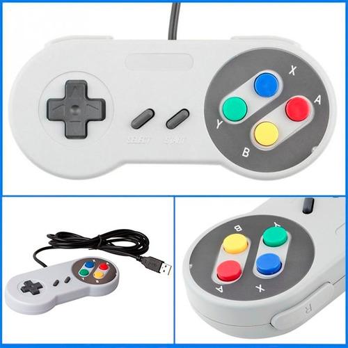 Control Usb Tipo Snes Super Nintendo Para Pc Mac