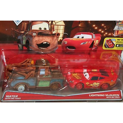 Disney cars 2 pack mate mcqueen sin llantas 2016 mattel - Cars en juguetes ...