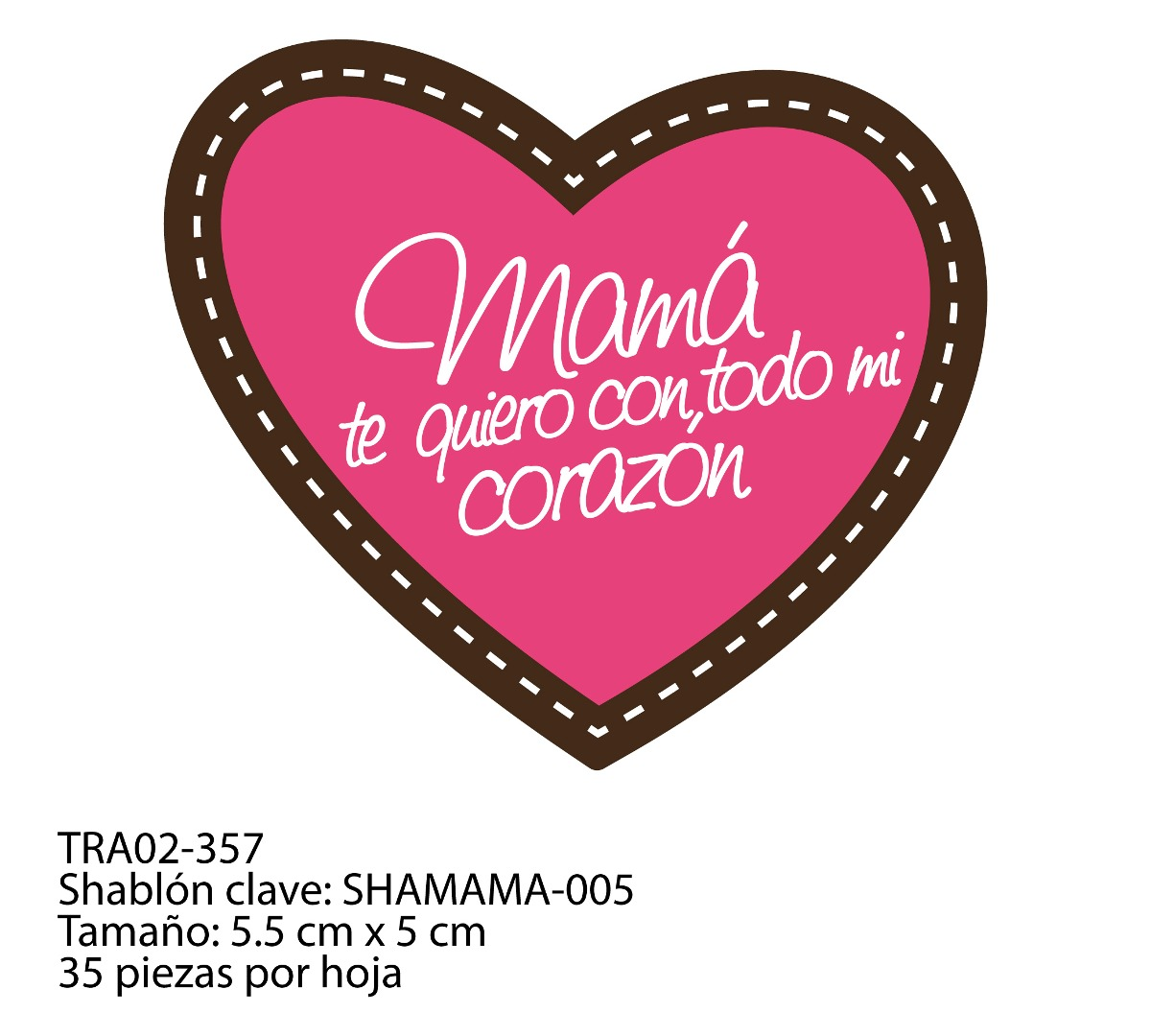 Transfer para Chocolate - Día de las Madres- 2 tintas