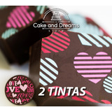 Transfer para Chocolate San Valentín - 2 tintas - Ma Baker and Chef