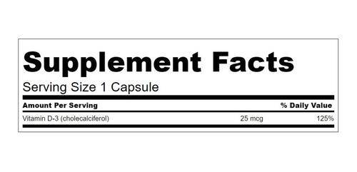 Vitamina D3 Salud Total Premium 1,000iu 250 Tabletas Eg D21 - Ecart
