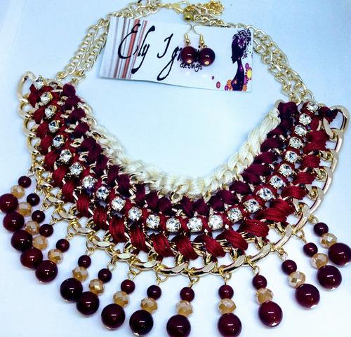 1a3243467c9a ... comprar Collar Artesanal Set Bisuteria Fina Joyeria O Venta Mayoreo ...
