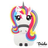Funda Botarga Diseño Unicornio Arcoiris Huawei P10 Lite