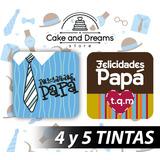 Transfer para Chocolate - Día del padre - 4 y 5 tintas
