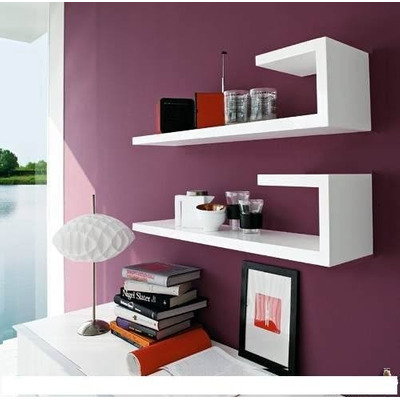 Repisa minimalista flotante moderna barata forma bast n - Ikea mensole vetro ...