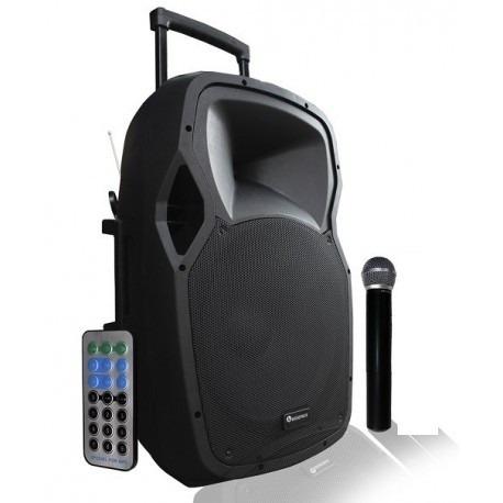 Bafle Recargable Activo Usb Bluetooth Fm 4500w Bocina 12