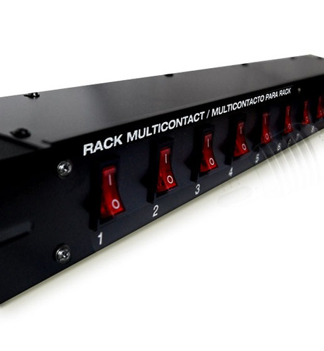 Barra Multicontacto Switchera 10 Contactos Profesional Rack